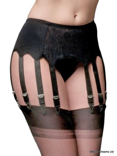 Clothing, Shoes & Accessories Stockings Hq New Classic 10-strap Plain Front Suspender Belt