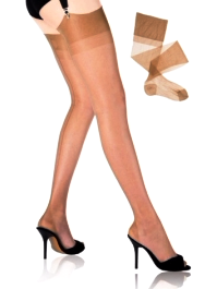 Cuban Heel Stockings Brazilian Tan