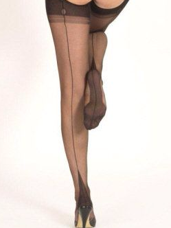 Fully Fashioned Point Heel Stockings